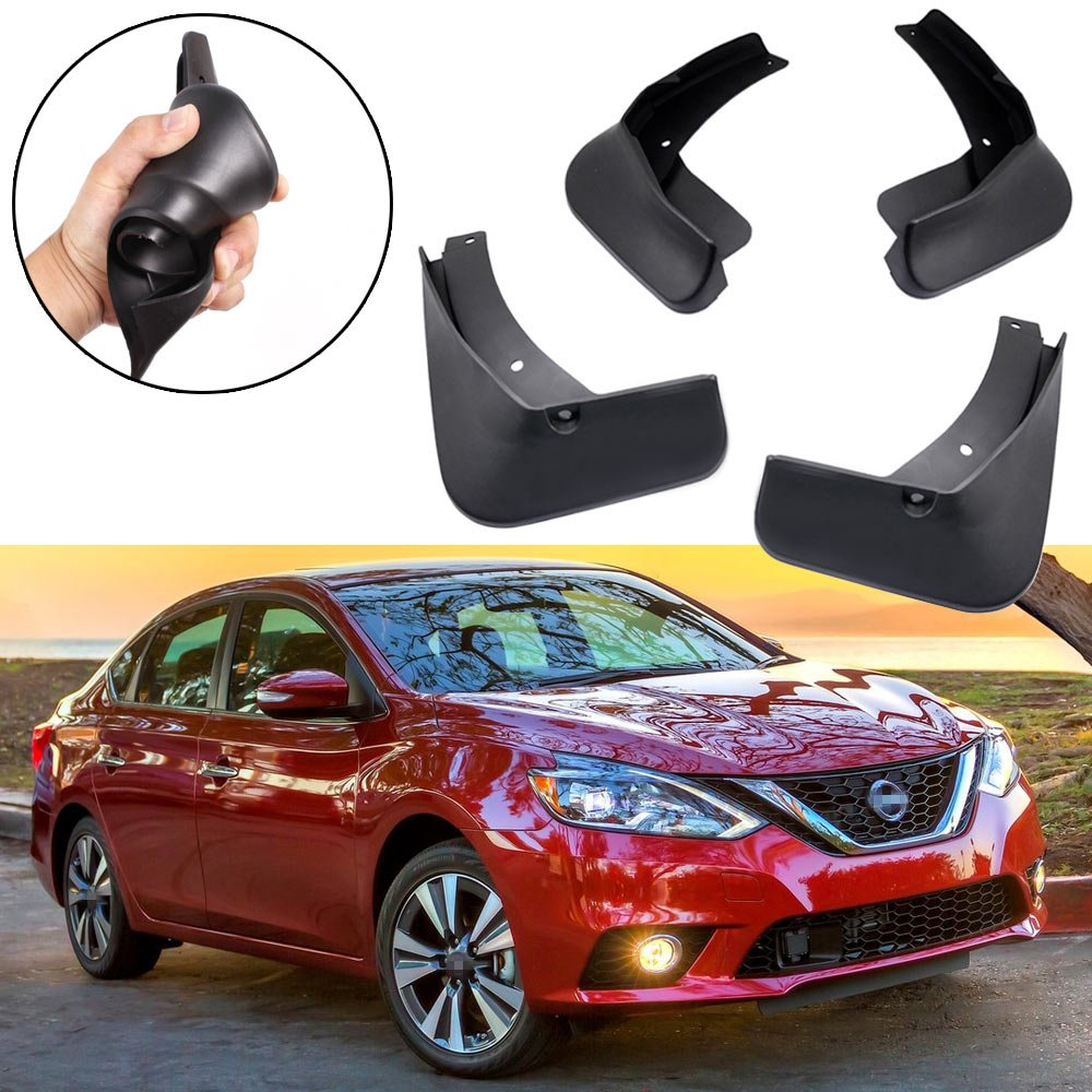 SPEEDLONG 4Pcs Car Mud Flaps Splash Guard Fender Mudguard for Nissan Sentra 2016 2017 2018