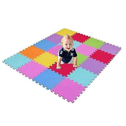 XMTMMD Suelo Para Ninos Y Infantiles EVA Puzzle ColchonetaPara Ninos Y Infantiles EVA Puzzle Colchonetas Puzzle/Rompecabezas para cubrir el suelo (20 ...