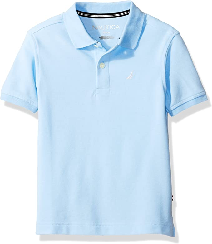 Nautica Boys Little Short Sleeve Solid Deck Stretch Polo, Blue ...