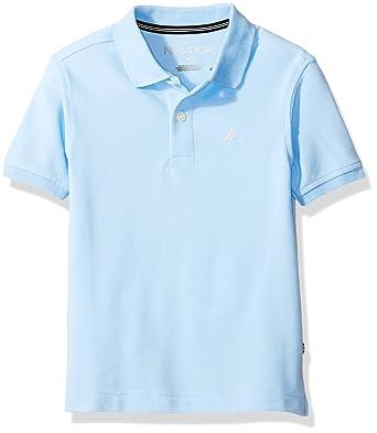 Nautica Boys Little Short Sleeve Solid Deck Stretch Polo, Blue ...