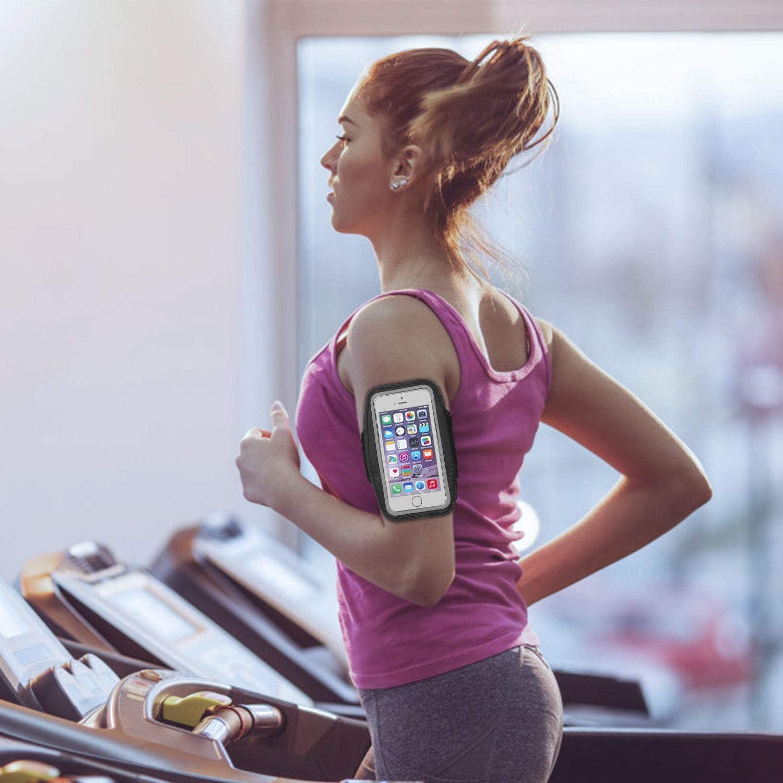 Sportarmband Handytasche Sport f/ür iPhone 8 Plus//8//7Plus//7,Galaxy S7//S6//S5 usw Schwei/ßfest Unisex f/ür Laufen Joggen Wandern Radfahren Fitnessstudio Workouts Schwarz unter 5,5 Zoll
