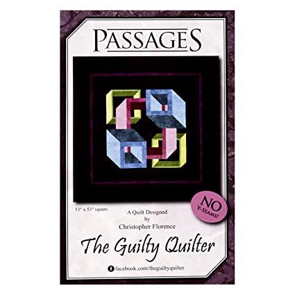 Amazon com: The Guilty Quilter Passages Pattern Multi: Arts, Crafts