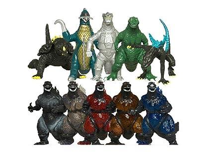 Amazon.com: 10pcs Mini Godzilla dinosaurio juguetes figura ...