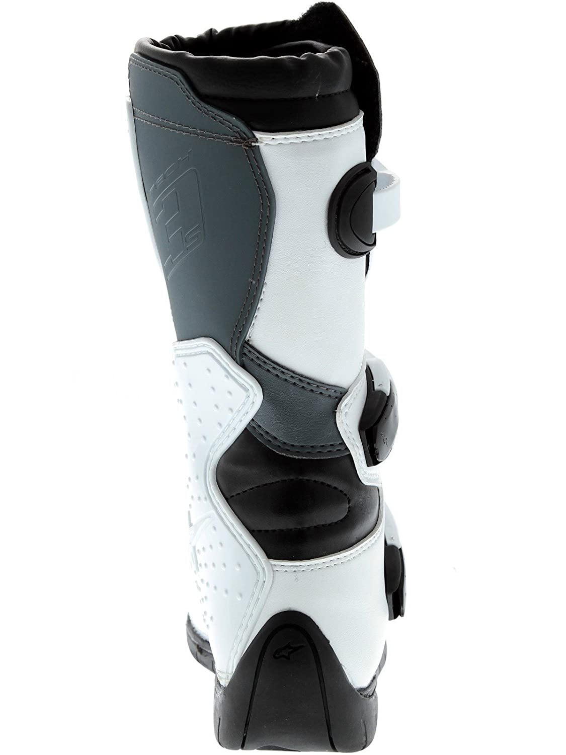 BLACK//WHITE//FLO RED Alpinestars 2018 Youth Tech-3S Boots 6