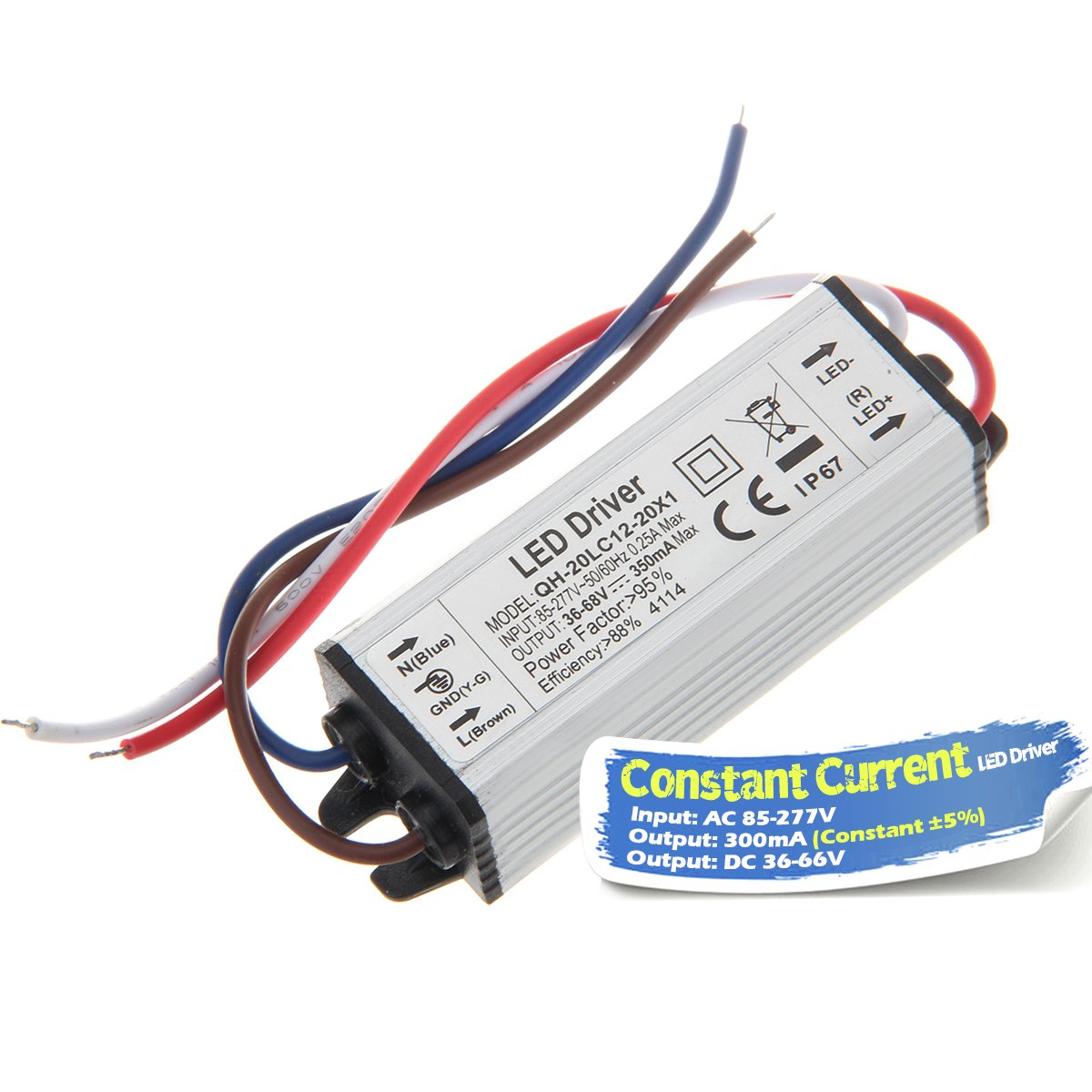 Chanzon Led Driver 300ma Constant Current Output 36v 66v In85 Simple Dc To Ac Converter Circuit Diagram 277v 12 20x1w 12w 15w 18w 20w Ip67 Waterproof High Power Supply 300 Ma Lighting