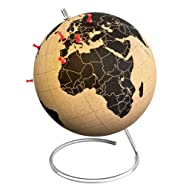 Suck UK SK CORKGLOBE1 Globe - pinpoint your travels, adventures and memories, Large, Brown/Black