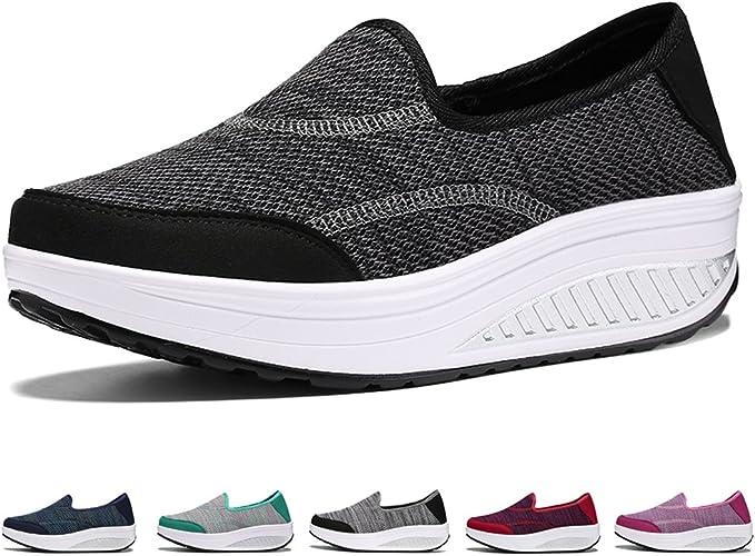 SAGUARO New Women Walking Rocking Shoes Sneaker Sport Running Casual Anti-skid