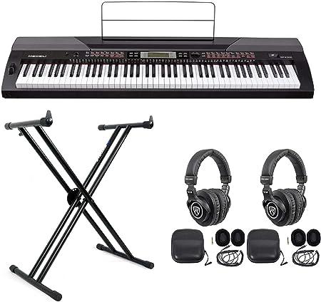 MEDELI SP4200 - Piano digital de 8 teclas con soporte y 2 ...