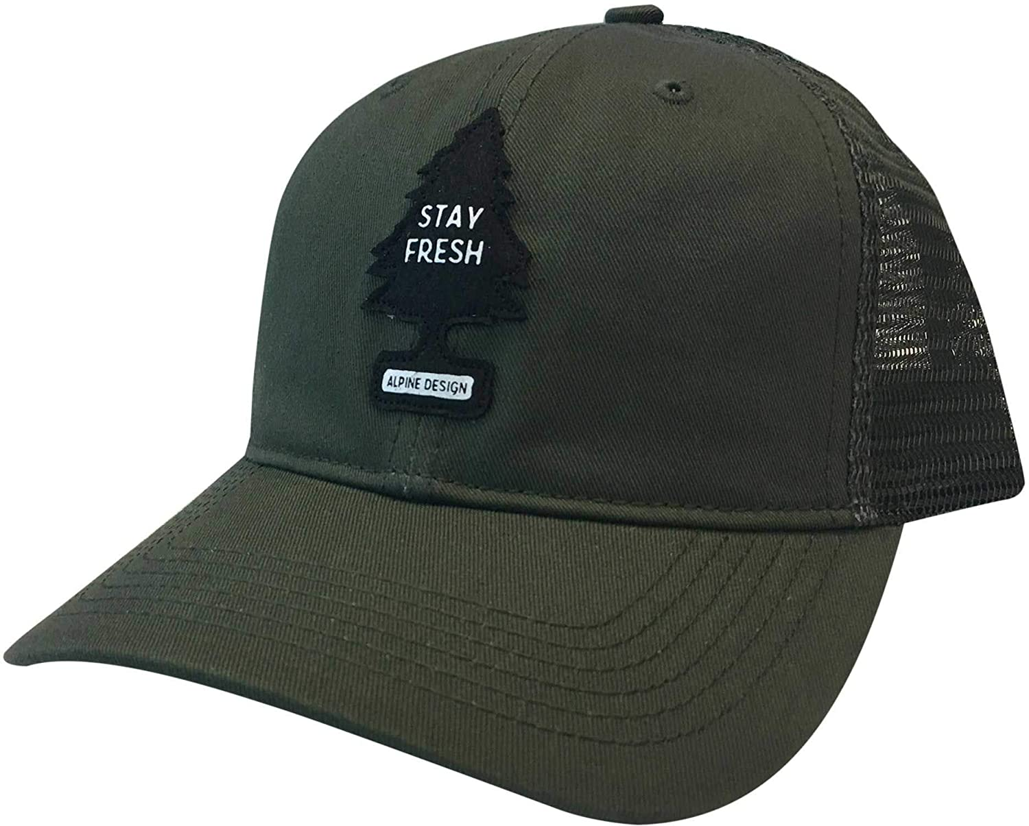 ba81ecc43d2dd Amazon.com   Alpine Design Men s Stay Fresh Patch Trucker Hat  (Charcoal OneSize)   Sports   Outdoors