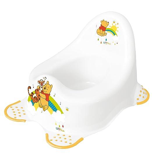 9 Juego Z Disney Winnie Pooh Blanco bañera XXL 100cm + Soporte para beñera + Asiento Baño + OLLA + Soporte para inodoro + Taburete + Cubo de pañales + ...