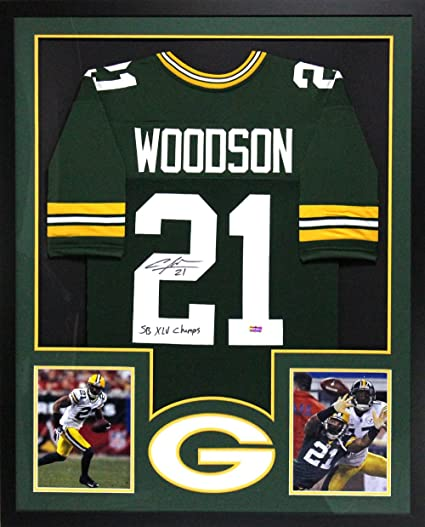Charles Woodson Autographed/Signed Green Bay Packers Framed Green ...