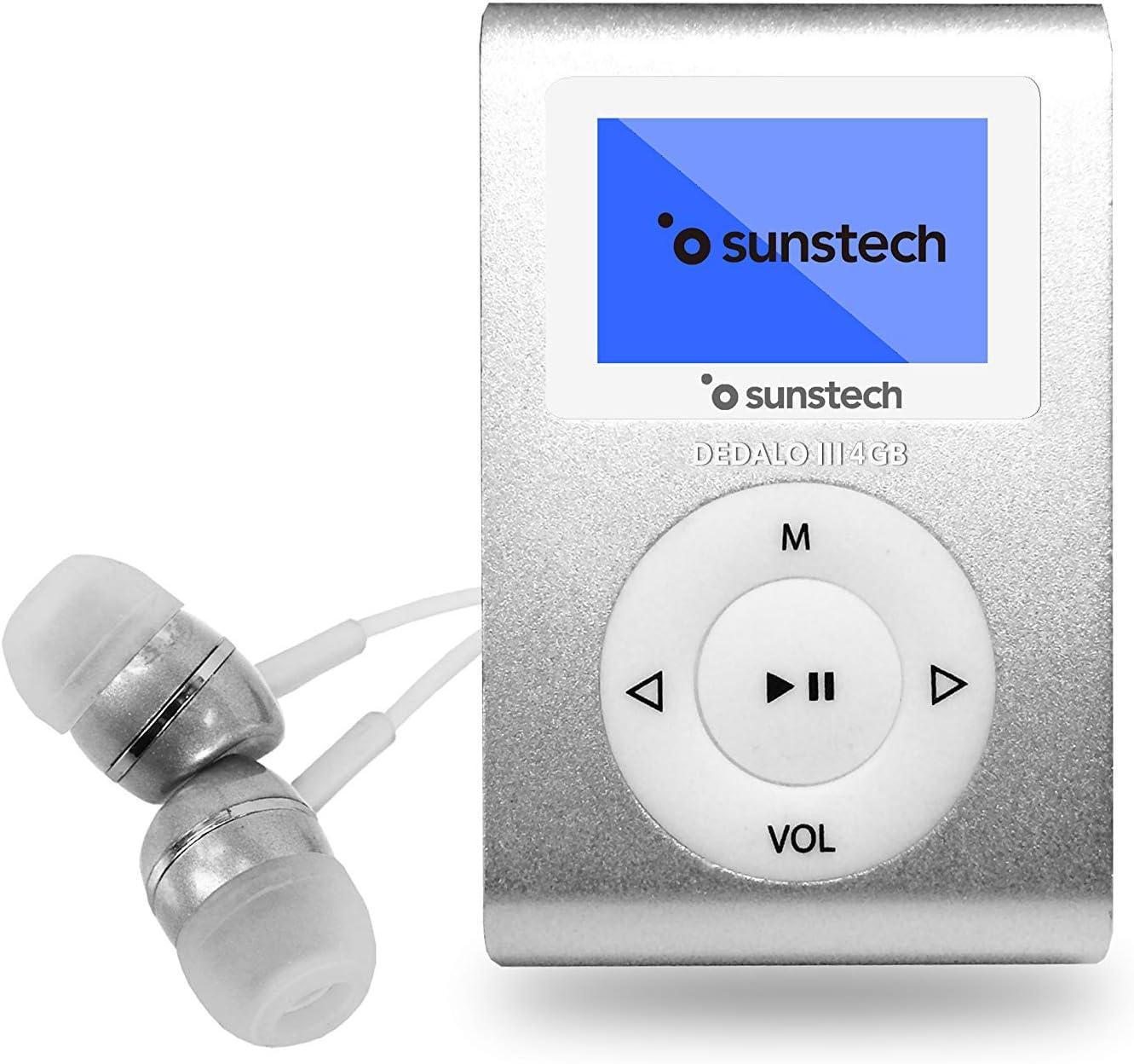 Sunstech DEDALOIII - Reproductor MP3 de 1.1, 4 GB, color plata ...