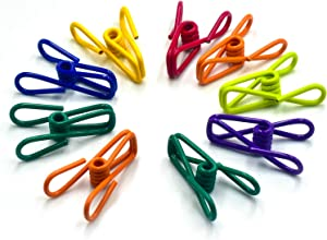 Chip Clips, Utility PVC-Coated Steel Clip for Food Package, Chips Bag, Clothes, Parper, Pack of 16, 2 Inch