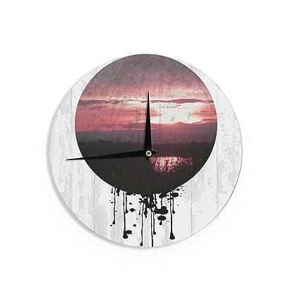 Kess InHouse Micah Sager Swamp Lake Circle Wall Clock 12