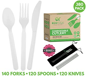 Amazon.com: Utensilios 100 % compostables – cuchillos de ...