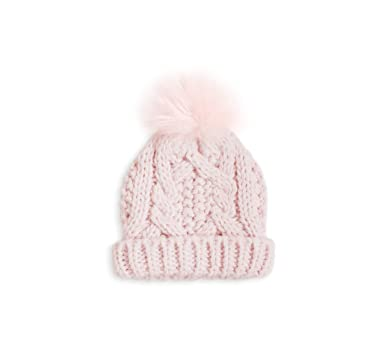 Katie Loxton Cable Knit Baby Bobble Hat Pink 15 x 16 cm  Amazon.co.uk   Clothing f93cac78cd33
