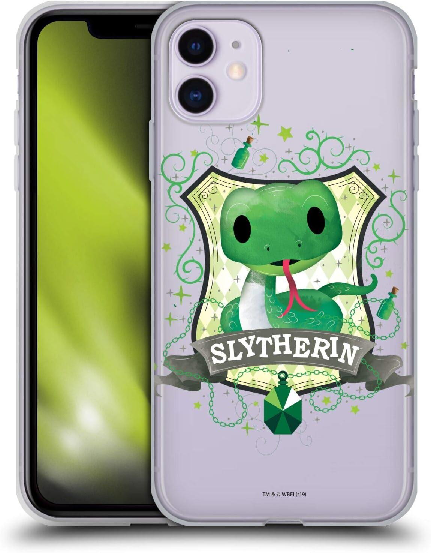 Head Case Designs sous Licence Officielle Harry Potter Slytherin Deathly Hallows II Coque en Gel Doux Compatible avec Apple iPhone 11