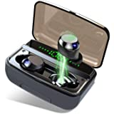 Wireless Earbuds 5.0 Bluetooth Earbuds, Hi-Fi Stereo Noise Canceling Wireless Headphones with Built-in Mic, IPX8…