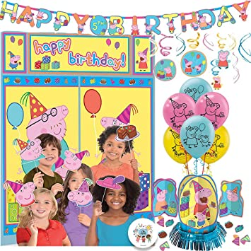 The Ultimate Peppa Pig Birthday Party Decorations Supplies Pack With