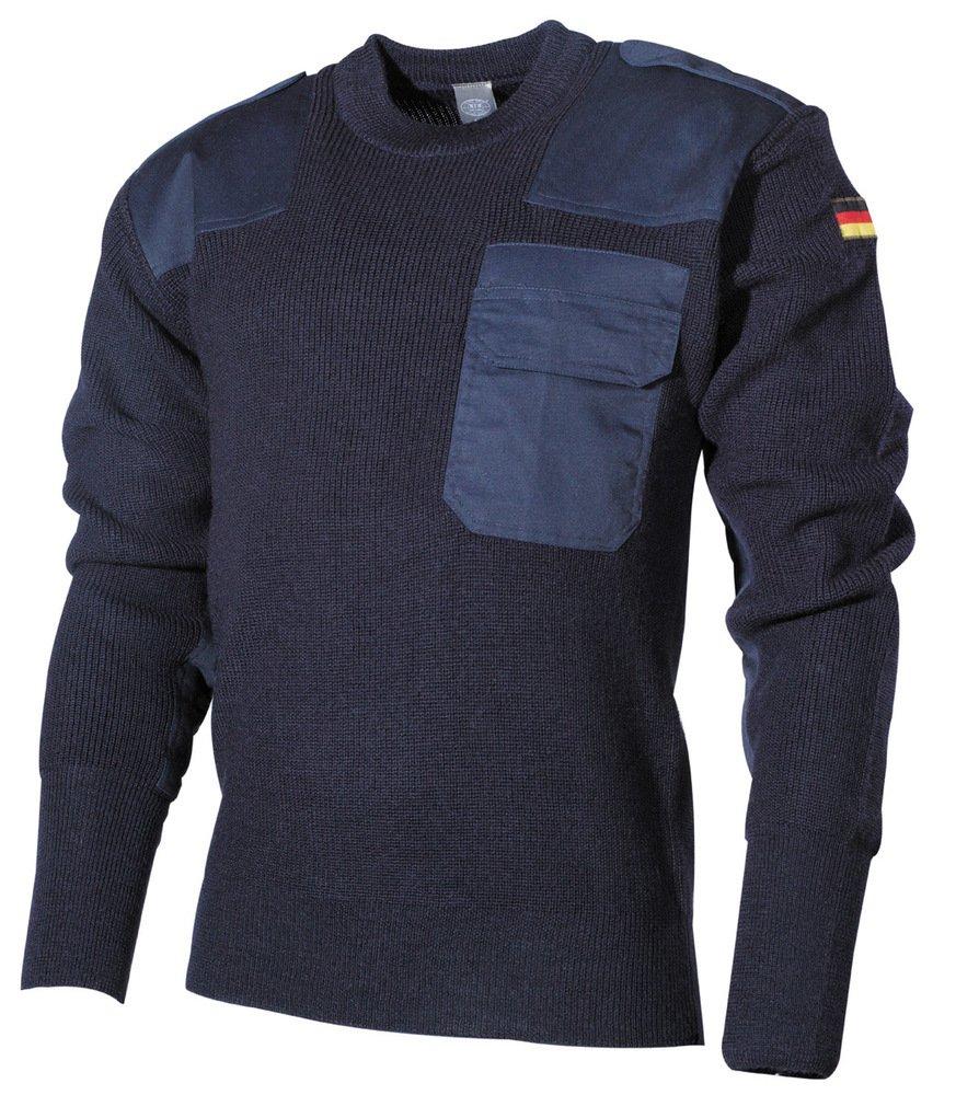 MFH Schwerer Bundeswehr Pullover mit Brusttasche (Blau 52)