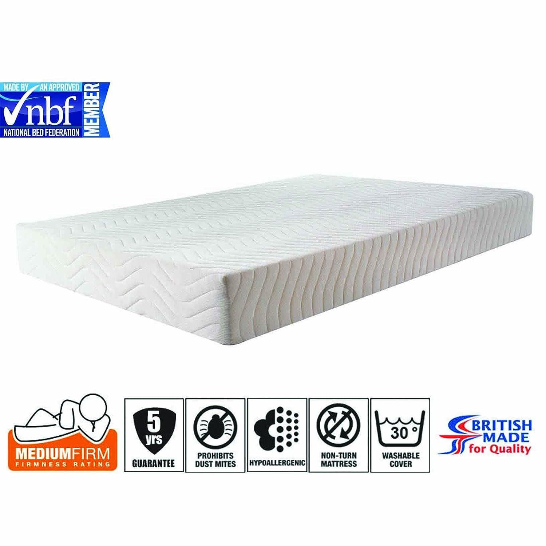 3ft 4ft 4ft6 5ft Memory Foam Mattress Reflex Orthopaedic Mattress Hypoallergenic