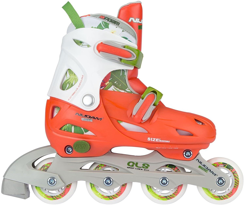 59a9d48a43f Amazon.com : Nijdam Children's Inline Skates Pearl Size, Peach, 27 - 30 :  Sports & Outdoors