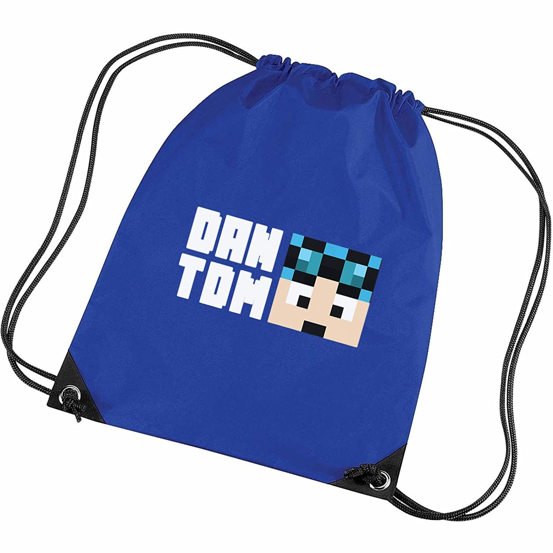 74825bb8c4 Dantdm Dan The Diamond Minecart Blue Hair 2D Face Player Skin Gym ...