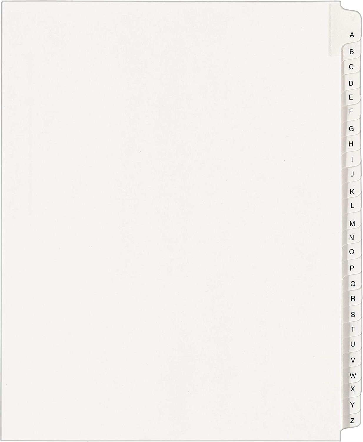 Avery Collated Legal Exhibit Dividers Side Tab 8.5 x 11 inches 82106 1 Set Allstate Style ,White EXHIBIT 1-25