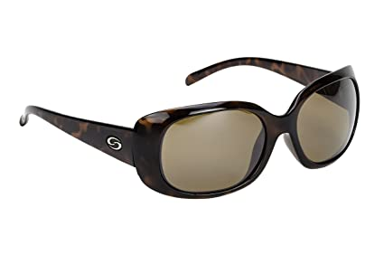05eadacdb42 Image Unavailable. Image not available for. Color  Strike King Women s S11  Optics Madison Polarized Sunglasses with Tortishell Frames and Dark Amber  Brown ...