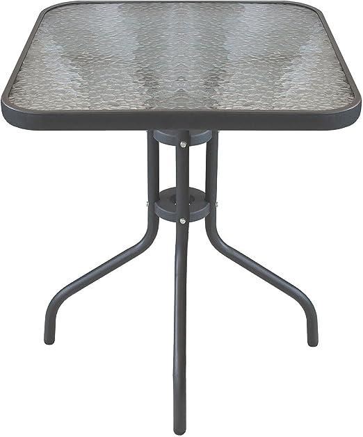 Bistro Mesa Balcón Mesa Mesa de cristal 60 x 60 cm mesa auxiliar ...