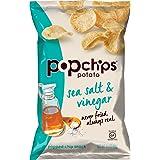 Popchips Potato Chips, Sea Salt & Vinegar Potato Chips, (3.5 oz. Bags), Gluten Free, Low Fat, No Artificial Flavoring (Pack o
