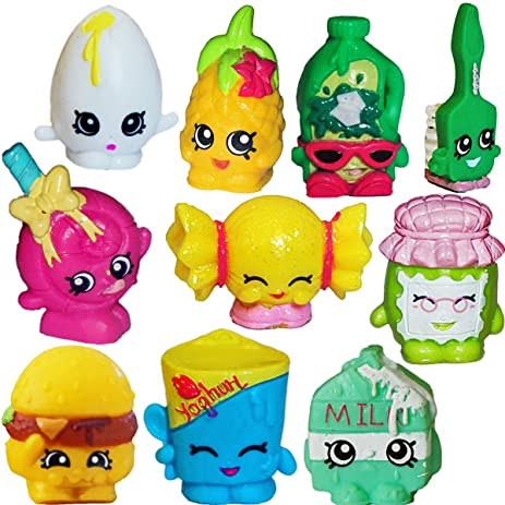 SHOPKINS Season 1 Set Of 10   Mandy Candy, Googy, Pineapple Crush, Spilt