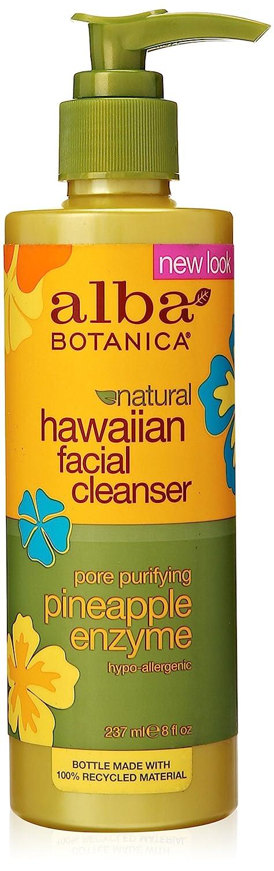Hawaiian Enzyme Face Cleanser, Pineapple, 8 oz By Alba Botanica Surya Brasil - 100% Natural Vegan Tinted Lip Balm Coconut Nectar - 0.15 oz. (pack of 6)