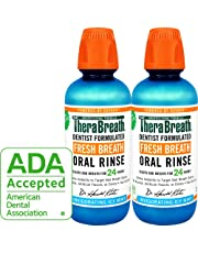 TheraBreath – Fresh Breath Oral Rinse – Icy Mint Flavor – Dentist Formulated – No Stinging or Burning – Stops Bad Breath – Gluten-Free – Certified Kosher – 16 Ounces – Two-Pack