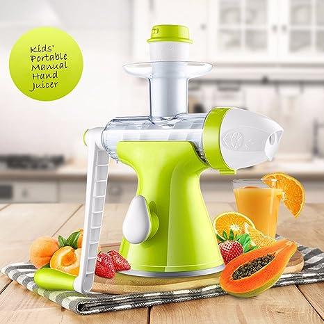 Lenta Manual – Exprimidor para frutas verduras exprimidor manual – Succión Base- Kids exprimidor Extractor