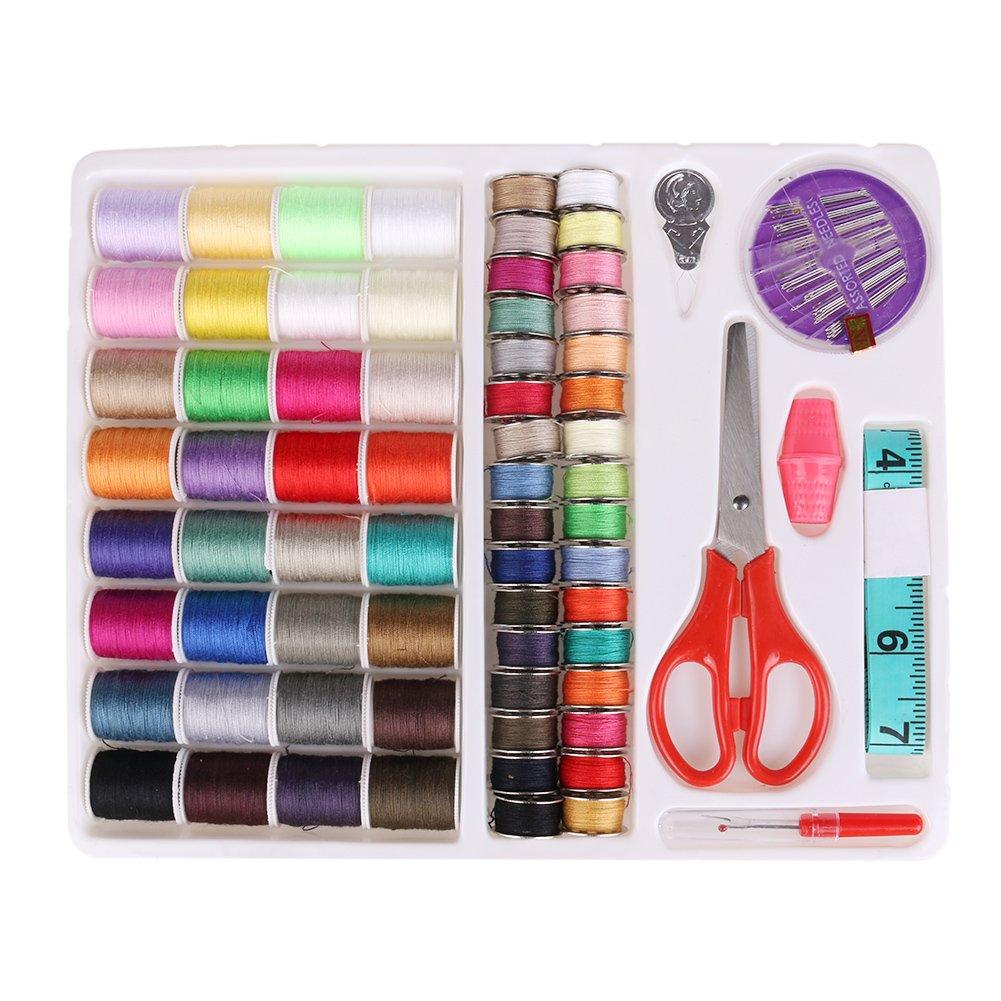 Lolpi kit cucito strumenti essenziali per cucire kit da viaggio portatile macchina da cucire 64 color Line