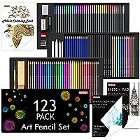 Shuttle Art 123 Pack Art Pencil Set, 36 Watercolor Pencils,36 Oil Based Pencils,12 Sketch Pencils,12 Metallic Color…