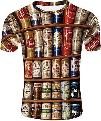 Camisa de compresión Tide para Hombre, latas de Coca Cola Impresas de Manga Corta, Transpirables y de Secado rápido.: Amazon.es: Ropa y accesorios
