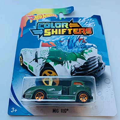 Hot Wheels 2020 Color Shifters MIGRIG Green/White: Toys & Games