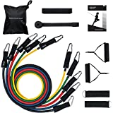 Mpow Resistance Bands Set, 2018 Upgraded Resistance Bands with Handles & Bigger-Head Door Anchor & Sturdy Hook, Up to 150 LBS, 5 Exercise Bands for Strengthening Muscle, Keeping Healthy at Home/Gym