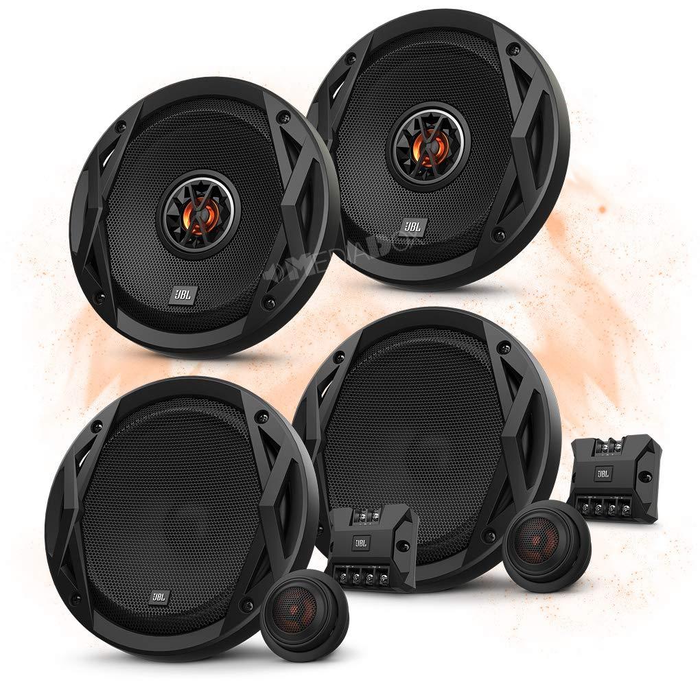 Arteon//Caddy Kombi//Alltrack Hertz Front//Heck 16,5cm//165mm Auto Lautsprecher//Boxen//Speaker Komplett-Set f/ür VW T5 T6