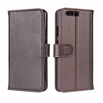 JARNING Cuero Genuino Funda para Huawei P10 Plus Flip Case ...