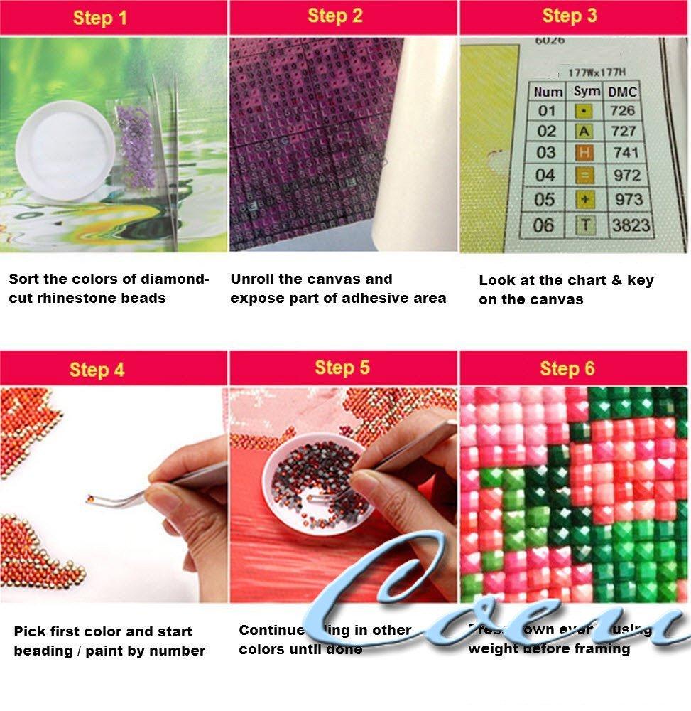 amazon com coeus diy kit for kids crystal diamond painting