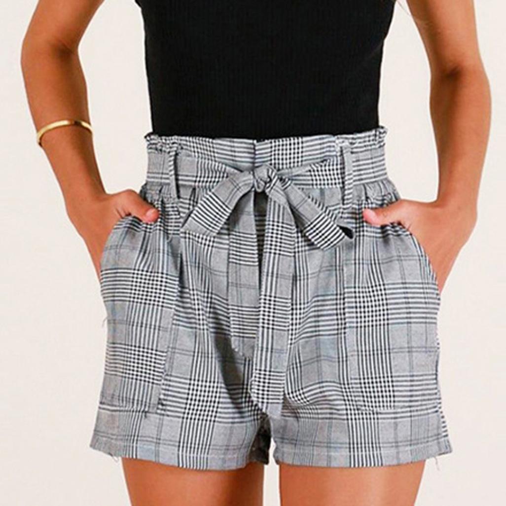 ♥-♥-♥-Pantalones Cortos para Mujer, RETUROM 2018 Pantalones Cortos Sueltos del Bolsillo de la Raya de Las Mujeres Pantalones Cortos Cortos de la Playa de ...