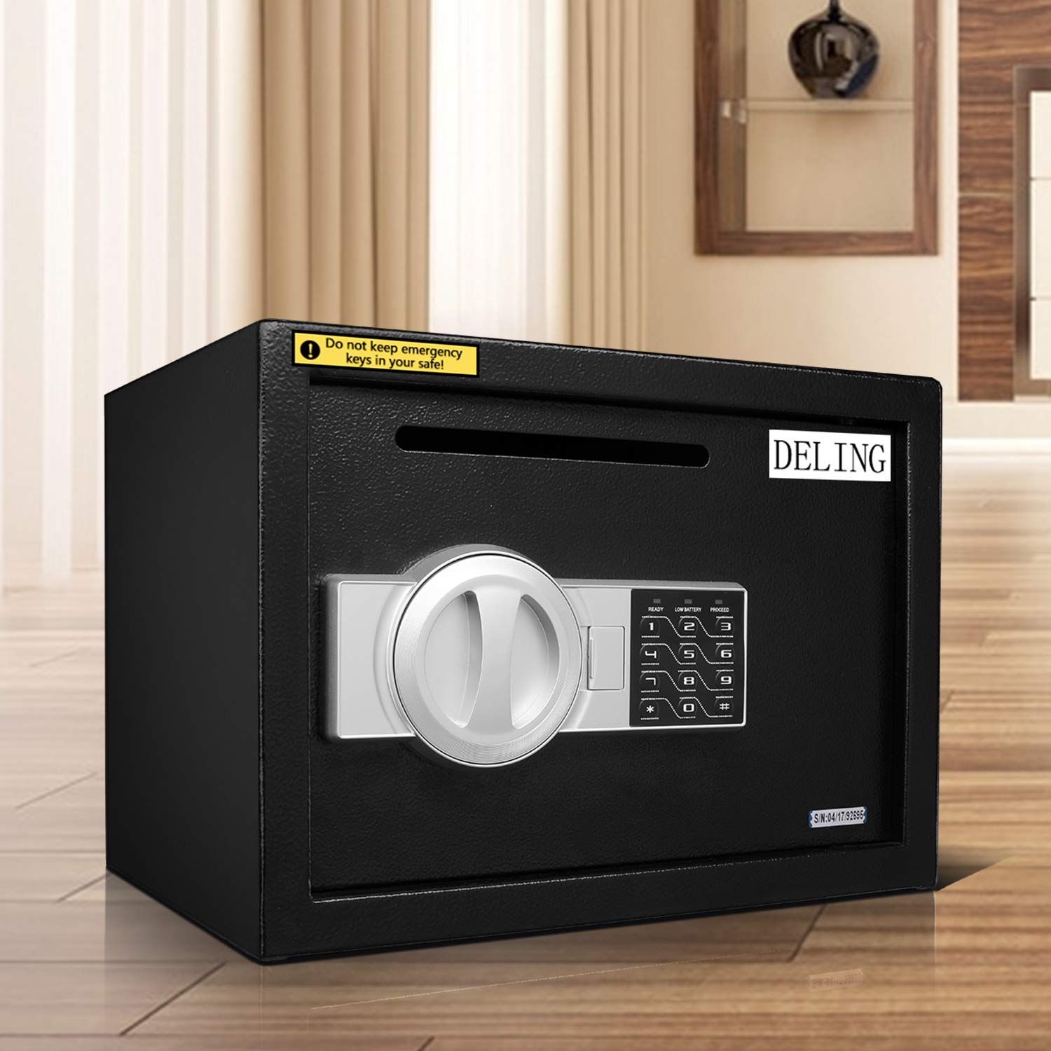 HYD-Parts Digital Security Safety Box,Money Gunsafe Cabinet Box for Home Office Hotel (25) by HYD-Parts (Image #9)