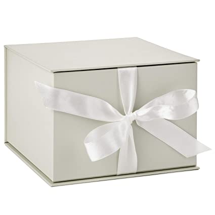 Hallmark Large White Gift Box With Lid And Shredded Paper Fill For Weddings Birthdays And More