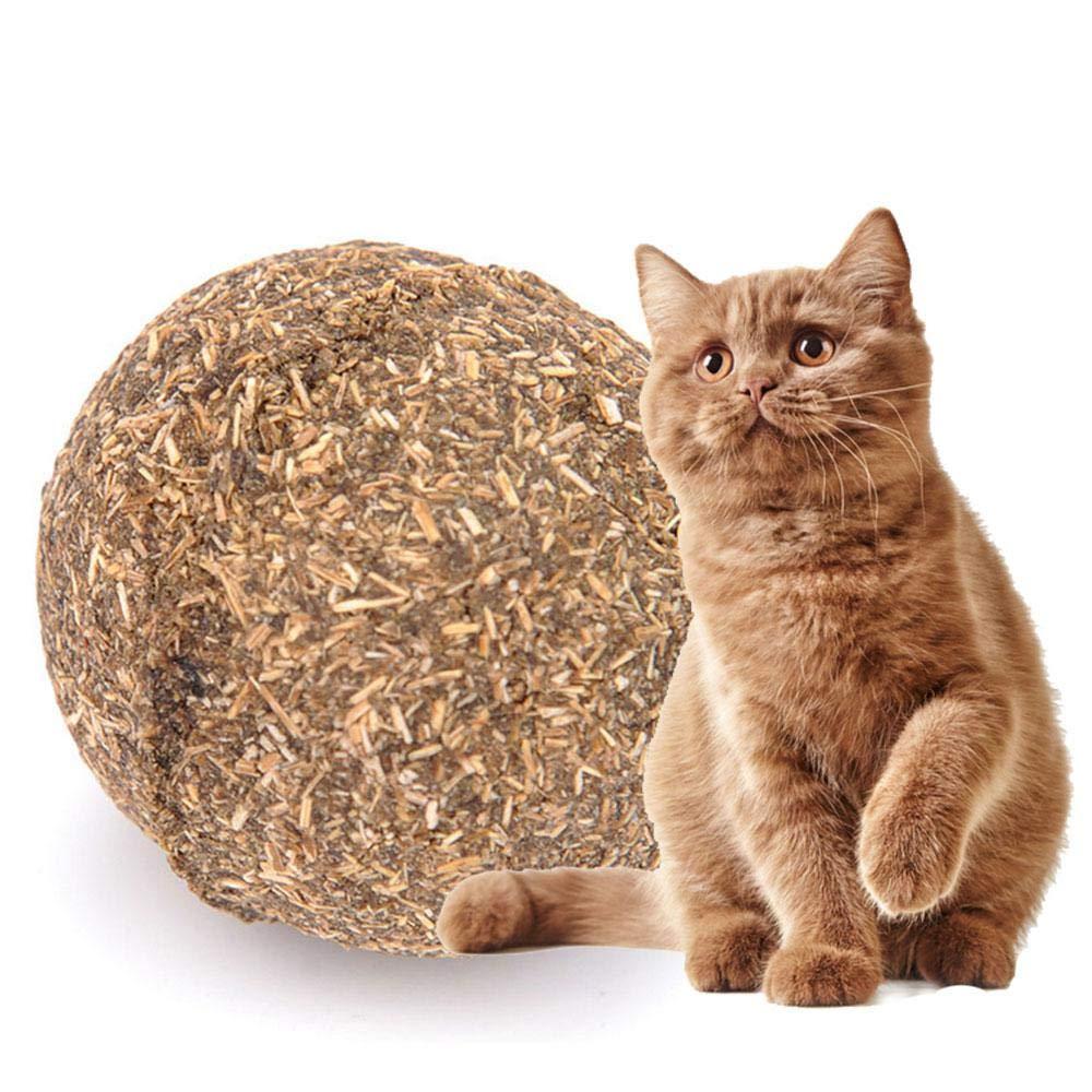 Aolvo Cat Catnip Sticks - Pelota de gato 100% orgánico natural Matatabi, bola comestible segura para gatos para limpieza de dientes molares y gatos, ...