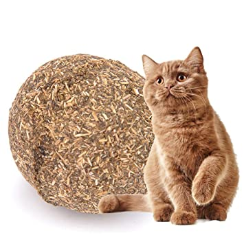 Aolvo Cat Catnip Sticks - Pelota de gato 100% orgánico natural Matatabi, bola comestible segura para ...