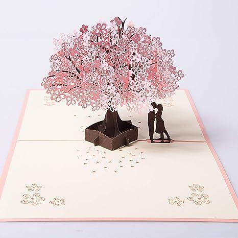 Anniversario Matrimonio Auguri Romantici : Biglietto 3d pop up dauguri carta per matrimonio anniversario san