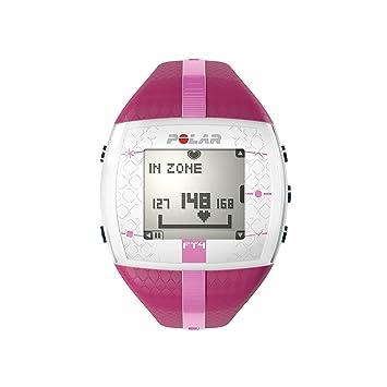 Polar FT4 - Reloj con pulsómetro e indicador de calorías consumidas para fitness y cross-training, color rosa